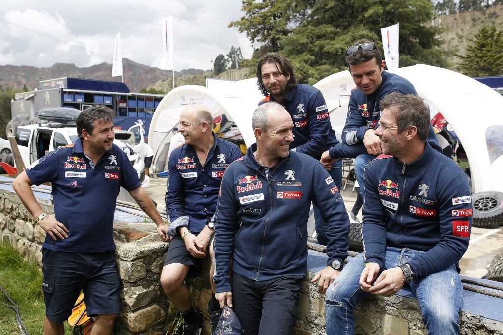 LOEB SEBASTIEN (fra) ELENA DANIEL (mco) PETERHANSEL STEPHANE (fra) COTTRET JEAN PAUL (fra) DESPRES CYRIL (fra) CASTERA DAVID (fra) PEUGEOT TEAM PEUGEOT TOTAL 3008 DKR ambiance portrait during the Dakar 2017 Paraguay Bolivia Argentina , Rest day, journée de repos,  La Paz ,  January 8 - Photo Benjamin Cremel / DPPI