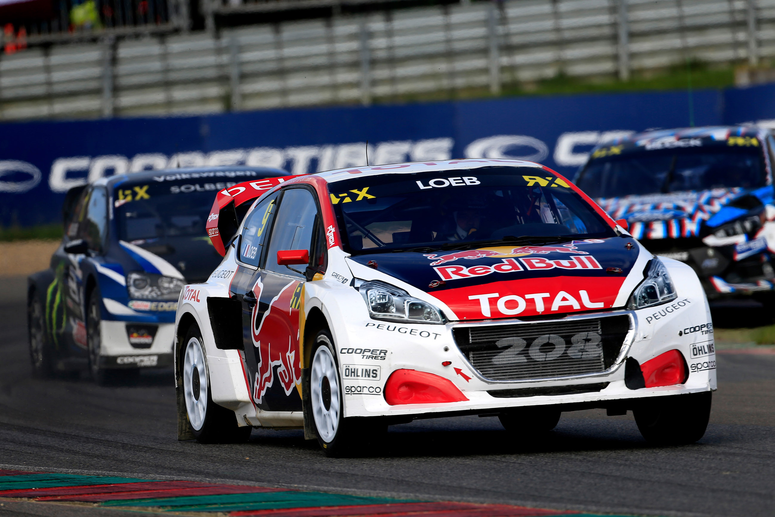 09 LOEB Sebastien (fra) Team Peugeot Hansen Peugeot 208 action during the Coyote World RX in Belgium 2017, circuit jules Tacheny, on May 12 to 14 -  Photo Paulo Maria / DPPI