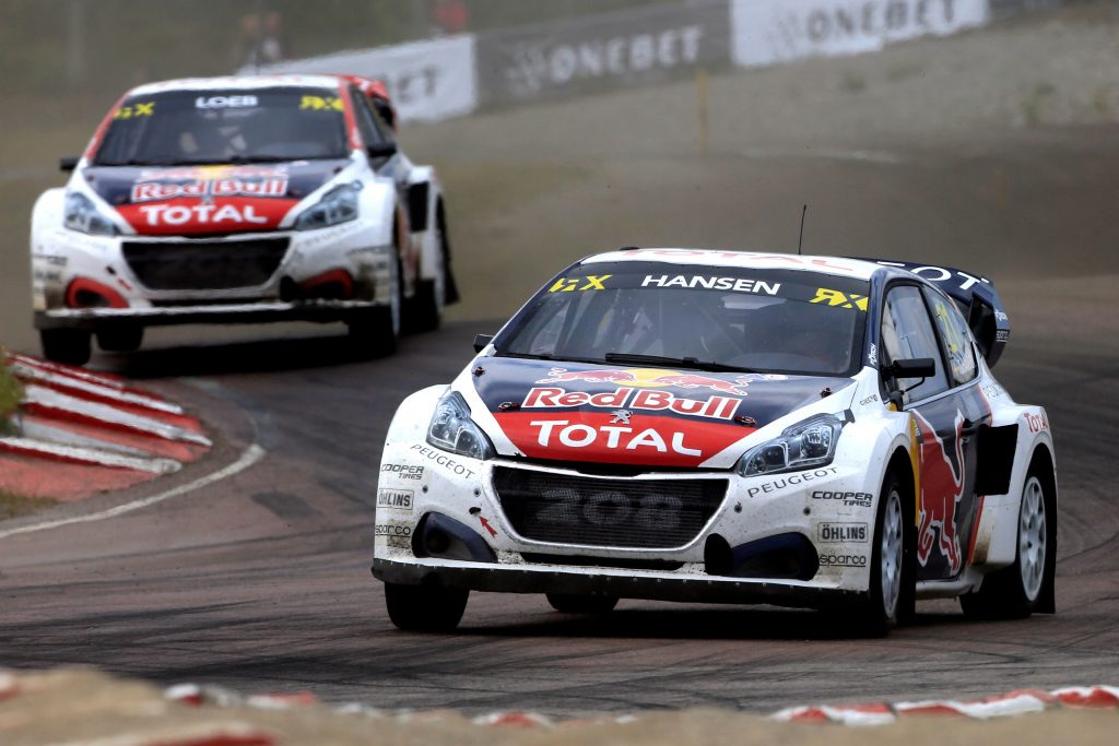 21 HANSEN Timmy (swe) Team Peugeot Hansen Peugeot 208 action during the Swecom WORLD RX Championship of sweden 2017 at HOLJES MOTORSTADION June 30  to july - Photo Paulo Maria / DPPI