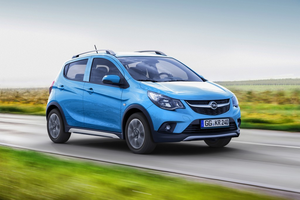 Breath of fresh air: The new Opel KARL ROCKS comes with a raised ride height and the appearance of a small SUV.
