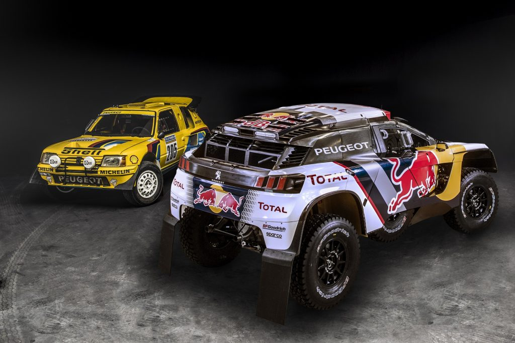 The 205 T16 and Peugeot 2008 DKR revealed in Nanterre, France on March 28th, 2014  Peugeot returns to Dakar 2015 // Flavien Duhamel/Red Bull Content Pool // P-20140414-00184 // Usage for editorial use only // Please go to www.redbullcontentpool.com for further information. //