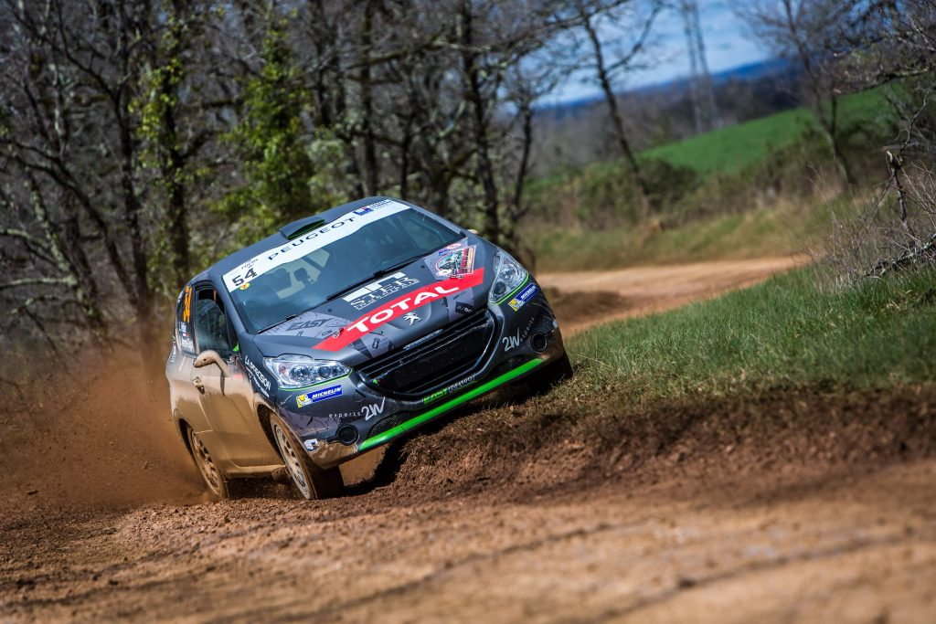 54 PELLIER LAURENT, NEYRET-GIGOT 208 VTI R2 action during the 2017 French rally championship, rallye Terre des Causses from March 31 to April 2, 2017 at Loupiac, France - Photo Thomas Fenetre / DPPI