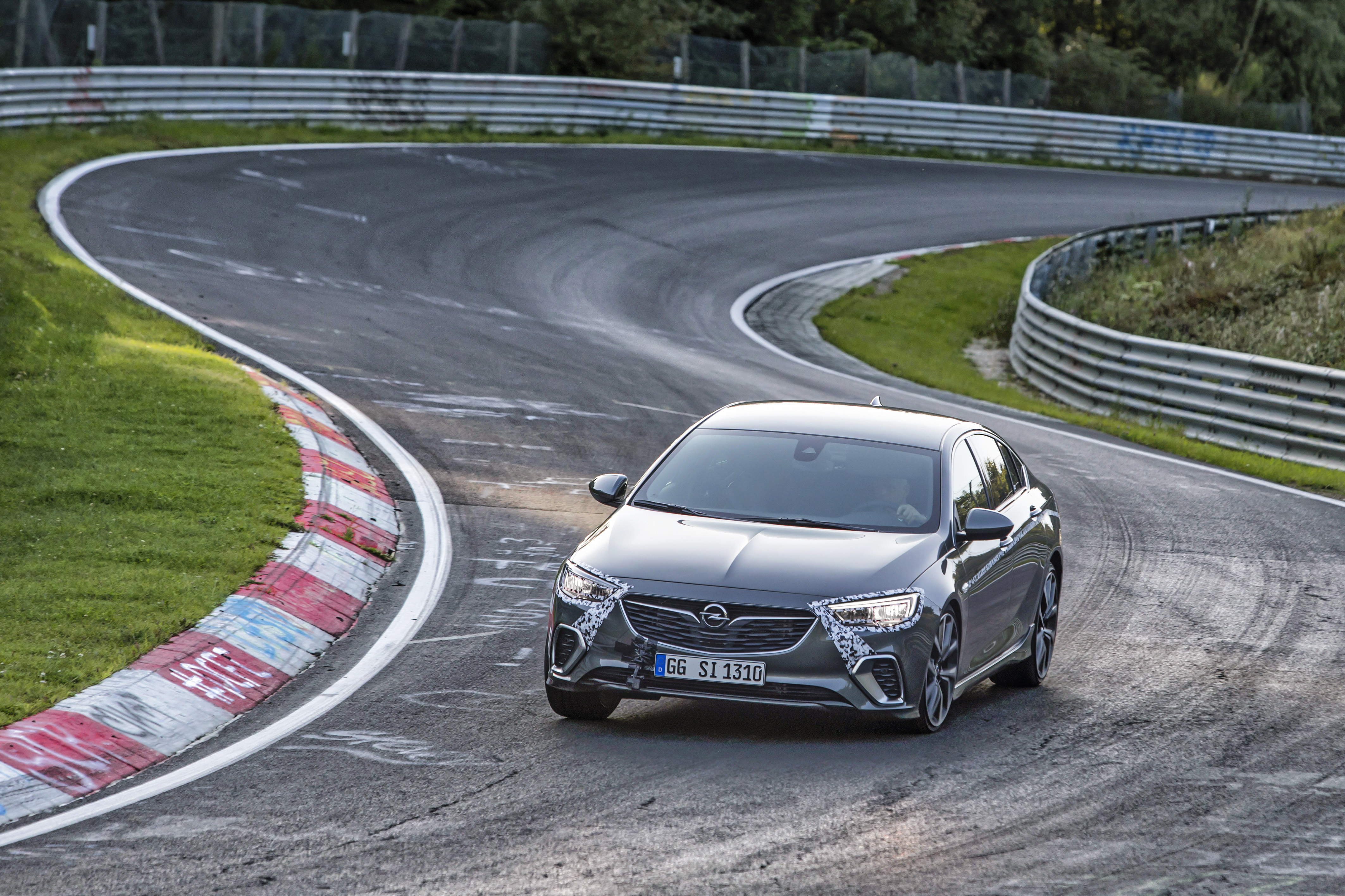 Familiar territory: The new Opel Insignia GSi shows what it is made of on the legendary Nordschleife of the Nürburgring.