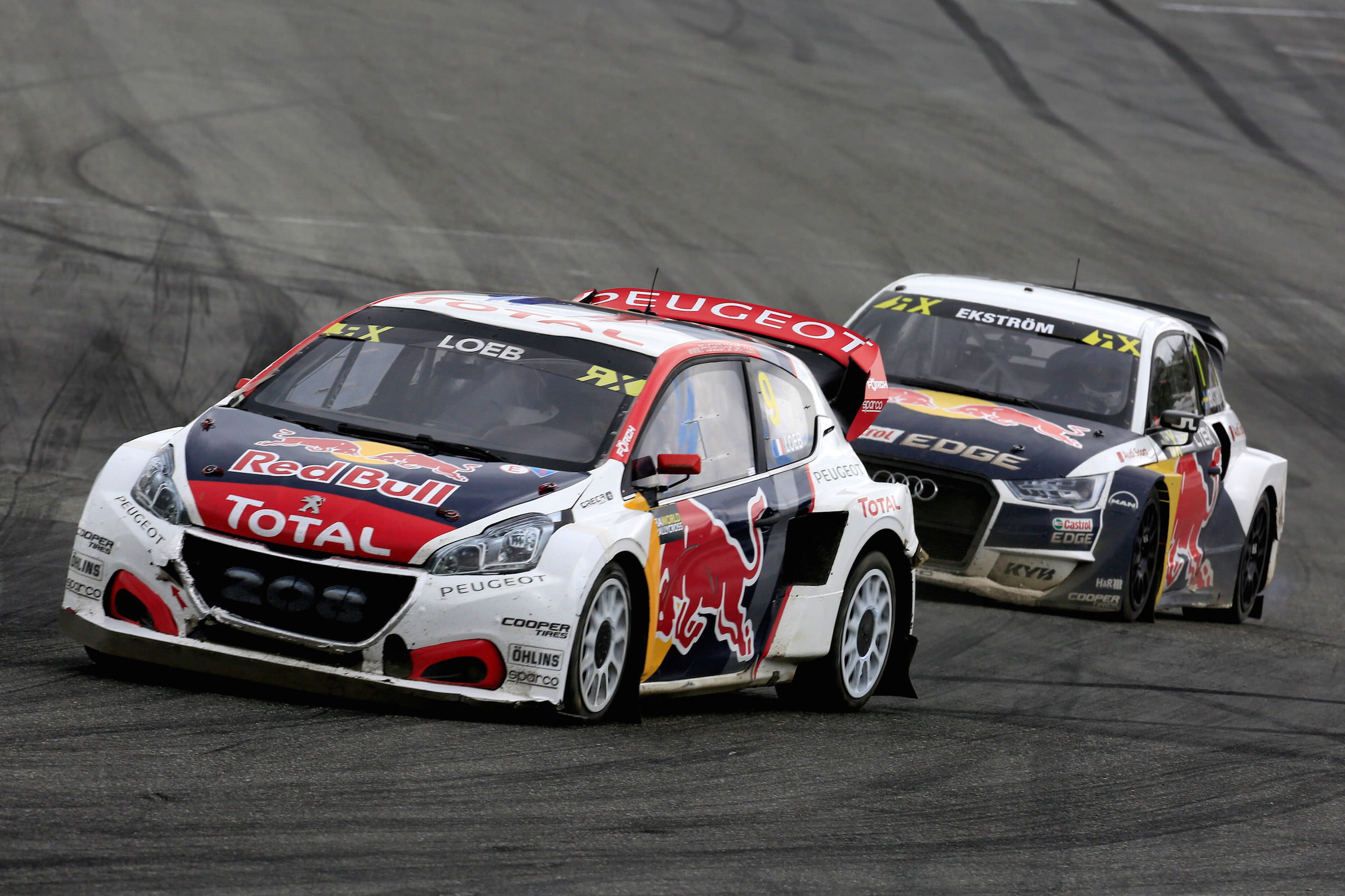 09 LOEB Sebastien (fra) Team Peugeot Hansen Peugeot 208 action during the Norway FIA WRX World Rallycross Championship 2017 at Hell on June  9th to 11th  Photo Paulo Maria / DPPI